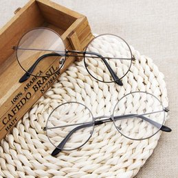 d7380ad1a3 Harajuku glasses frame men and women tide models ultra light decorative  frame round retro metal flat glasses Prince mirror Glass