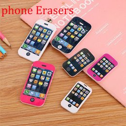 Best Gifts Supply Australia - Phone Erasers New Creative Correction Supplies For Kids Student School Supplies Best Gift For Young Student