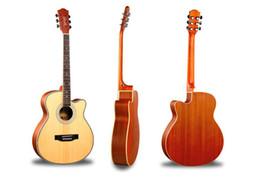 Jumbo maple guitar online shopping - 2019 new Guitar Instrument Inch Spruce Panel Sapele Beginner Student Acoustic Guitar Matte Musical Instrument