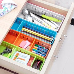 $enCountryForm.capitalKeyWord Australia - 3 Colors Creative Design Adjustable Drawer Organizer Household Kitchen Board Free Divider Makeup Tableware Storage Box