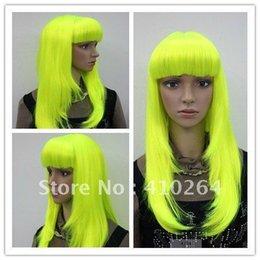 $enCountryForm.capitalKeyWord Australia - Fine free shipping Light green GREEN straight New vogue long women's wig+weaving cap 8882 AB10 R0035
