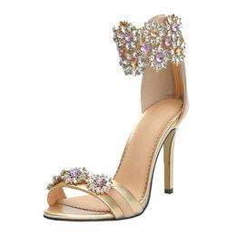 $enCountryForm.capitalKeyWord UK - Zandina 2019 New Ladies Handcrafted High Heel Sandals Crystals Rhinstone Summer Party Office Sandals Shoes N018