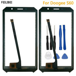 Replacement Lens For Glasses Australia - New 100% Touchscreen Sensor For DOOGEE S60 Touch Screen Digitizer Touch Panel Glass Lens Sensor For Doogee S60 Replacement Parts
