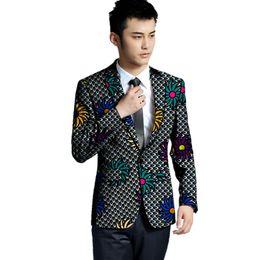 8ef506f4a9280 African Fashion Jackets UK - African clothing men's print blazers slim fit  ankara fashion suit jackets