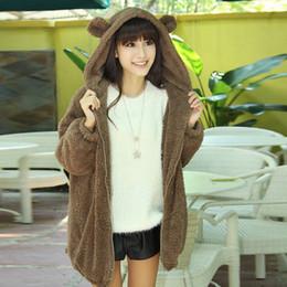 Discount bear ears jacket - Outerwear Cute Bear Ear Panda Winter Warm Hoodie Hooded Outerwear Coats and Jackets For Women
