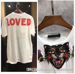 $enCountryForm.capitalKeyWord NZ - 2018 Fashion Blind For Love Embroidery Tiger Head T-Shirt Women Fashion Casual Short Sleeve Tops Tees T Shirts