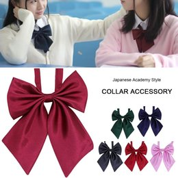 Wholesale cosplay japanese uniform resale online - Japanese Style JK Bow Tie Solid Color For Student Uniform Ladies Angled Bow Tie Lolita Cosplay Children Shirt Collar Accessories