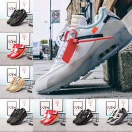 Spiked canvaS ShoeS online shopping - High Quality New Air Cushion Running Shoes Cheap Men Women Black White Beige air90 Sneakers Classic Air Cushion Trainer Sports Shoes