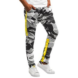 camouflaged trousers NZ - Trousers Men Skinny Sweatpants 2019 Camouflage Overalls Casual Pocket Sport Casual Trouser Pants Streetwear Track Jogger
