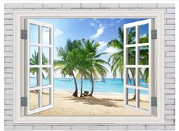 $enCountryForm.capitalKeyWord Canada - Wholesale-Custom 3d silk photo mural wallpaper Out of the window Maldives landscape background wall sticker papel de parede