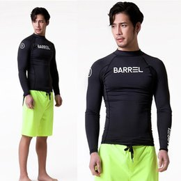 Body Fitness Suit Australia - Black diving suit male Korea BARREL solid color quick-drying tight wetsuit sports fitness snorkeling suit jellyfish clothing