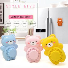 Wholesale Creative Cute Bear Mechanical Kitchen Timer Minutes Countdown Alarm Timer Dial Timers Counter Reminder Kitchen Accessories