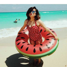 $enCountryForm.capitalKeyWord Australia - Watermelon Inflatable Swimming Ring Large Life Buoy Hawaii Summer Fun Pool Beach Party Decoration Supplies Kids Adult Float Toys