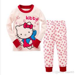 9d57b501d Children Pajamas set girl boys clothes pajamas Hello kitty baby boys girls  cartoon print long sleeve Tops+Pants Children pyjamas 2 pieces