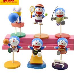 $enCountryForm.capitalKeyWord Australia - 6 Pcs set Cute Cartoon Doraemon Gymnastics version Birthday Present Creative Holiday Gift Plastic Action Collectible Model Toy 5CM OPP G114