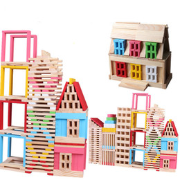 Kids Block Games Australia - Wooden Building Blocks Toys Early Educational Geometric Beech Assembling Construction Game Sets Kids Children Toy Gifts