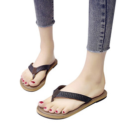 $enCountryForm.capitalKeyWord Australia - Fashion 2019 Women New Flip flops Retro Soft Weave Causal Leather Summer Shoes Soft Sandals Suitable for outdoorDrop shipping 30