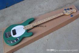 Best Bass guitars online shopping - HGFD Bass Guitar StingRay Music Man green Electric Bass Best Musical instruments Active pickups edsw