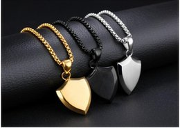 stainless steel 316l dog tags Canada - Fate Love New Style Hiphop Rock Shield Pendants Necklaces For Masculine Man Decorative Gift 316L Stainless Steel Jewelry N184