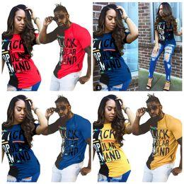 156e74dd58 Plus size couPle shirts online shopping - Summer T Shirts Plus Size Colors  Letter Printing Hip