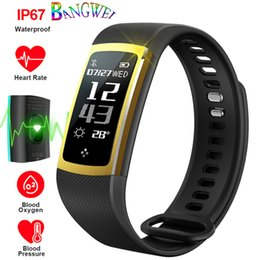 monitor dynamics Australia - Smart Bracelet Real-time Dynamic Blood Pressure Heart Rate Monitor Pedometer Smart Wristband Sport Fitness Tracker PK mi band 3