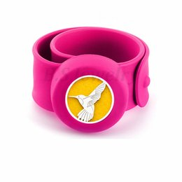 Hummingbird Gifts UK - Flying Hummingbird Kids Bangle Mosquito Repellent Bracelet Essential Oil Diffuser Bracelets Children Snap Silicone Bangles Free 10pads