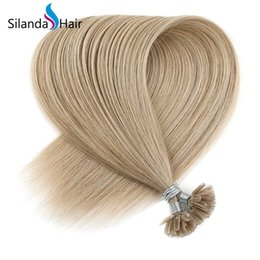 $enCountryForm.capitalKeyWord Australia - Silanda Hair Cheap #18K Straight 100% Remy Hair Nail Tip Pre Bonded U Tip Hot Fusion Human Hair Extensions 50 strands pack Free Shipping