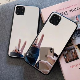 mirror glass iphone case NZ - 1pcs Fashion Mirror Glass Mirror Phone Case For Iphone 6s 7 8 X Xr Xs 11 Pro Max Mobile Phone Drop Protection Case