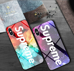 apple 6plus 2019 - Luxury Sup Cellphone Cases Tempered glass Back Cover Fashion Desinger Protector for iPhone X XS XR Xs Max 6 6s 6plus 7 8