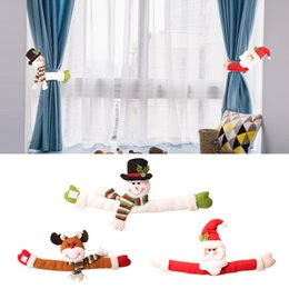 Cloth bandages online shopping - Curtain Buckle Curtain Tieback Cloth Art Christmas Hanging Window Beautiful Lovely Hooks Bandage Doll Button Home Decor