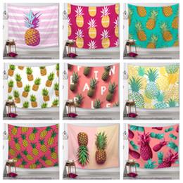 $enCountryForm.capitalKeyWord Australia - 25 Styles Pineapple Series Children wall carpet Digital Printed Beach Towels Bath Towel Home Decor Tablecloth Outdoor Blankes T2I5156