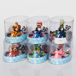 $enCountryForm.capitalKeyWord Australia - toys free shipping Retail 1pcs 12.5*8*9 cm Super Mario Kart Pull Back Car PVC Figure Toys With Box Gift For Children Free Shipping