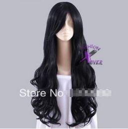 Ingrosso SPEDIZIONE GRATUITA + Parrucca alla moda per capelli ricci lunghi neri di Homestuck Vriska Serket