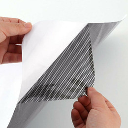 Mesh window nets online shopping - Car Side Window Mesh Film Windshield Net Sun Shade Sticker UV with Small Holes Protection Car Sun Shades Rear Window Cover