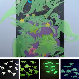 $enCountryForm.capitalKeyWord Australia - Noctilucent patch dinosaur patch children's room patches Science and education patches fluorescent sticker animal sticker T6I6016