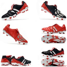 dark blue football cleats Canada - Blue White Predator Mania Beckham DB Zidane ZZ Champagne FG Soccer Shoes Super Quality Football Boots Wholesale Original Messi Soccer Cleats
