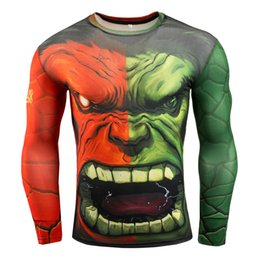 hulk printed t shirts Canada - 2019 Men's 3D Printing Spring cotton and Autumn Steel Hulk T-shirt Long Sleeve Top gym hoodie