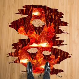 $enCountryForm.capitalKeyWord Australia - decoration art [SHIJUEHEZI] Magma 3D Wall Sticker Removable PVC Material Decorative Decals for House Living Room Bedroom Floor Decoration