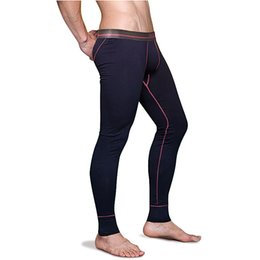 thin thermal underwear Australia - Men's Cotton Thermal Underwear Bottoms Mens Long Johns Sleep Bottoms Thin Elastic Waistband Pijamas Pants Tights 5XL 6XL 2498 SH190927