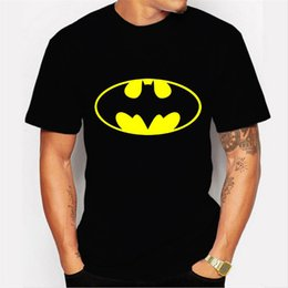 Patterned Tee Australia - Mens Bat Pattern Designer Tshirts Black Summer Fashion Cute Tops Short Sleeved Tees