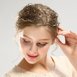 Mesh Jewelry Australia - Female jewelry crystal head buckle drill mesh hairpin fashion wholesale headwear