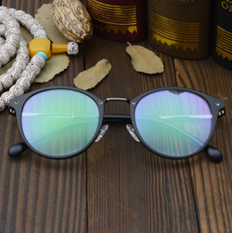 celebrity sunglasses wholesale UK - Fashion designer sunglasses classic retro frame glasses fashionable web celebrity round frame bule light protection spectacle