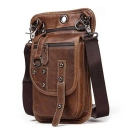 ipad mini bag men NZ - 2019 new fashion Genuine Leather Man Clothes Belt Mobile Phone Pocket Male Package Outdoors Leisure Time More Function wait bag ipad mini