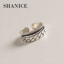 $enCountryForm.capitalKeyWord NZ - SHANICE New Arrivals Retro Double Layer With CZ Crystal Thai Silver Open Rings 925 Sterling Silver Rings For Girl Women Jewelry