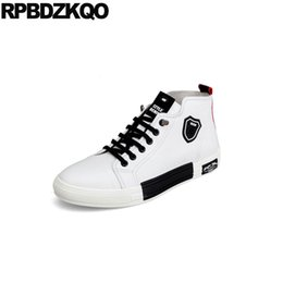 hip hop white cow leather hidden height increasing shoes elevator sneakers  men luxury skate trainers genuine spring high top c3f6e10e1ddf
