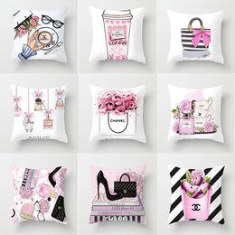 Knit throw pillows online shopping - The new series of small perfume bottle peach pillow cover cushion against the pillowcase custom home throw pillow cushion luxury