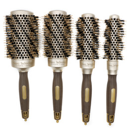 $enCountryForm.capitalKeyWord Australia - Nano Technology Thermal Ceramic Ionic Round Hair Brush With Boar Bristle Hair Aluminum Curling Brush For Blow Drying Comb