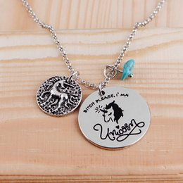 Discount horse novelty gifts - 'Bitch Please I'm A Horse' Novelty Pendant Neckalce Gift For Him or Her Magical Horse Statement Necklace