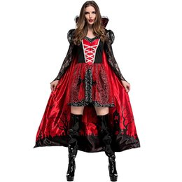 $enCountryForm.capitalKeyWord UK - Newest Arrival Theme Party Halloween Role Play Gothic Style Queen Dress Fantasy Evil Vampire Zombie Costume For Adult Women SH190719