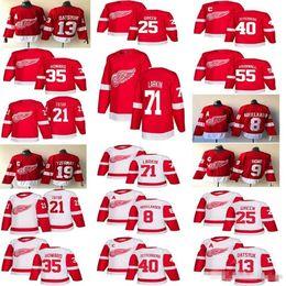 2018-2019 Detroit Red Wings Jerseys Hockey 13 Pavel Datsyuk 40 Henrik 8  Justin Abdelkader 19 Steve Yzerman 71 Larkin 9 Howe 21 Tatar hockey f05ec5b6e